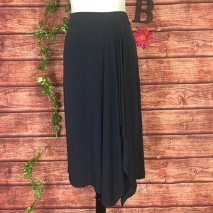 Michael Kors Skirt Extra Large Navy Blue Calf